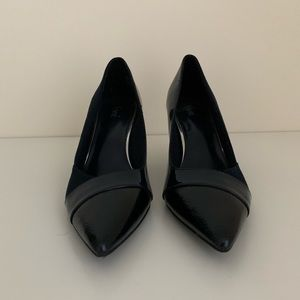 Navy, pointed-toe, Dress shoes